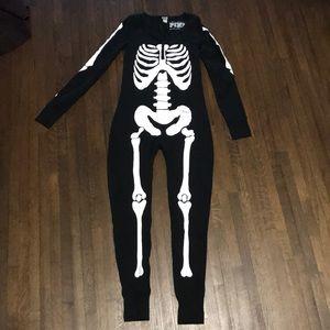 VS Pink skeleton onesie with back opening
